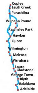Flinders Ranges passenger service route